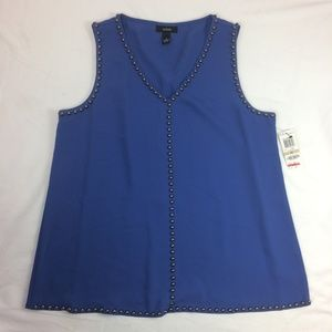 NWT Alfani tank to blouse blue
